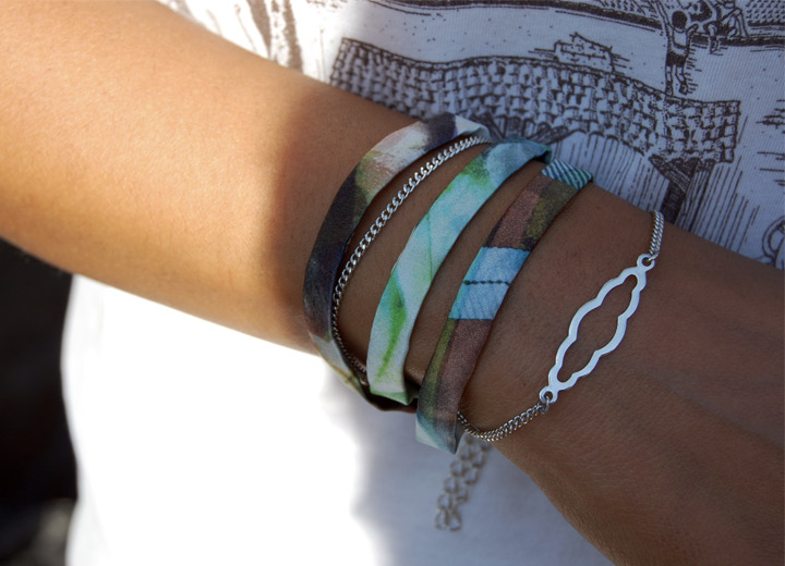 Bijou modulable en soie, bracelet – headband Evie