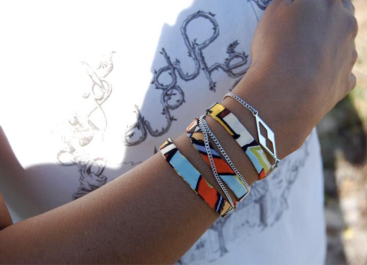 Bijou modulable en soie, bracelet – headband Morgane