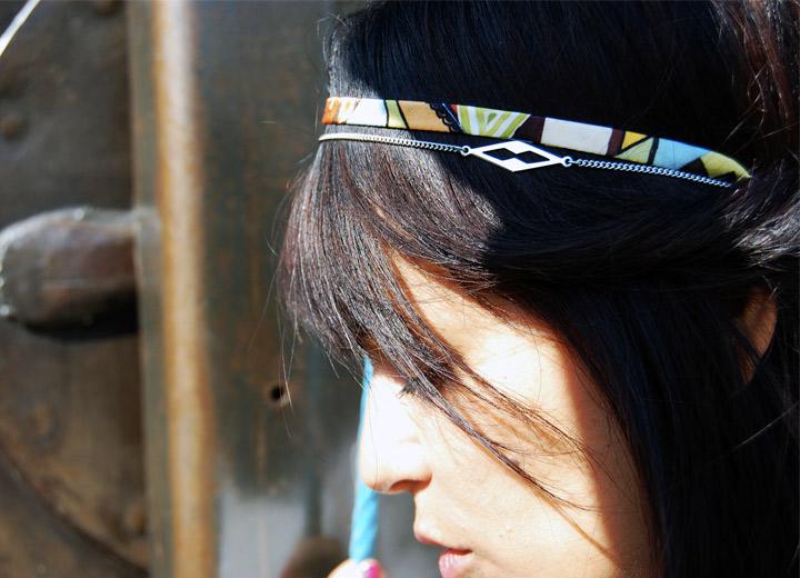 Bijou modulable en soie bracelet – headband Morgane