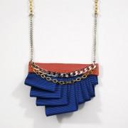 Collier bleu corail haute couture Louise