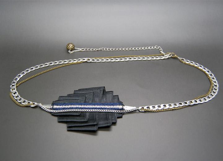 Headband noir design Andrea, bijou créateur