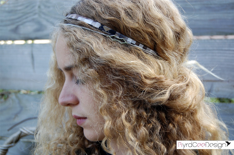 Bijou modulable en soie bracelet headband Alice
