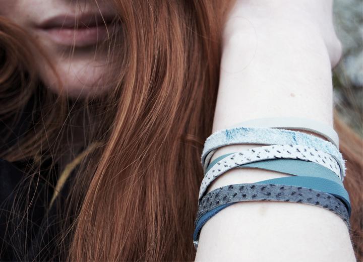 Bracelet cuir Orage bijou créateur ByrdCeeDesign