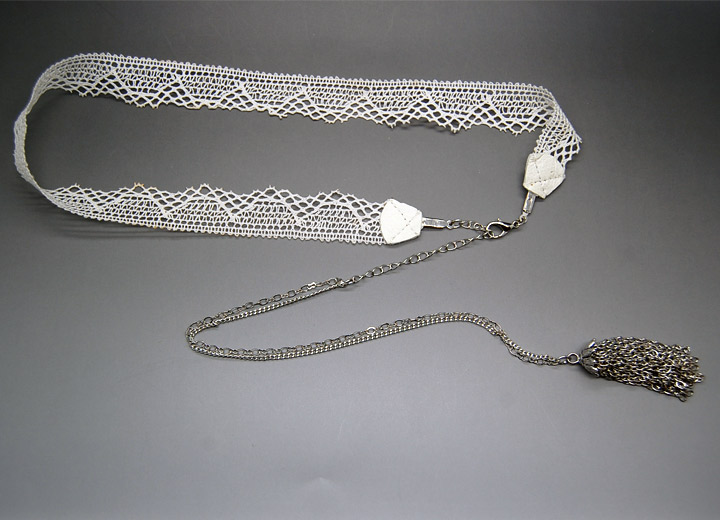 Headband dentelle bijou de dos mariage Elphège
