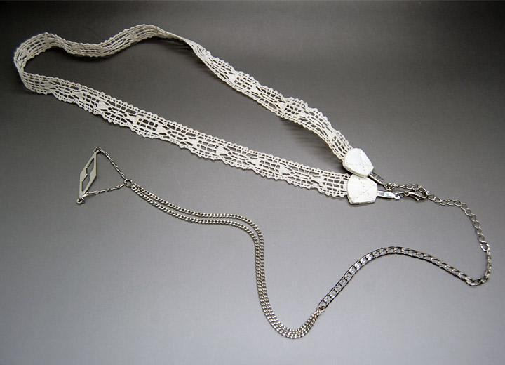 Headband bijou de dos mariage rétro Ingrid