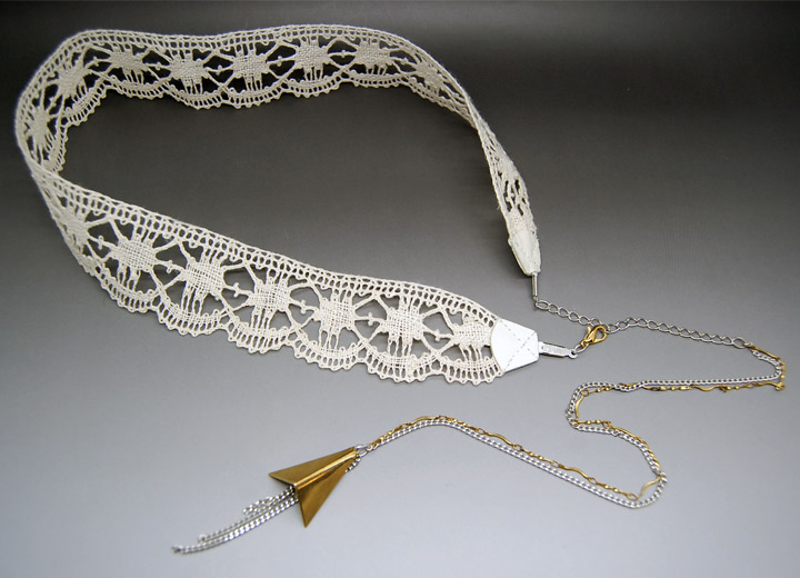 Headband avec bijou de dos, bijou mariage vintage Sherine