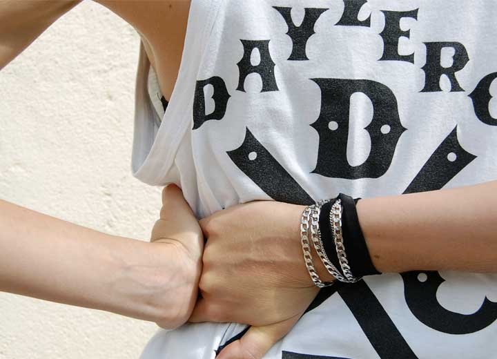 Bracelet soie Victoria modulable headband ByrdCeeDesign