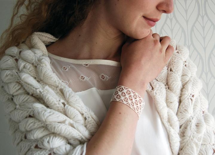 Bracelet dentelle Anouk bijou créateur ByrdCeeDesign