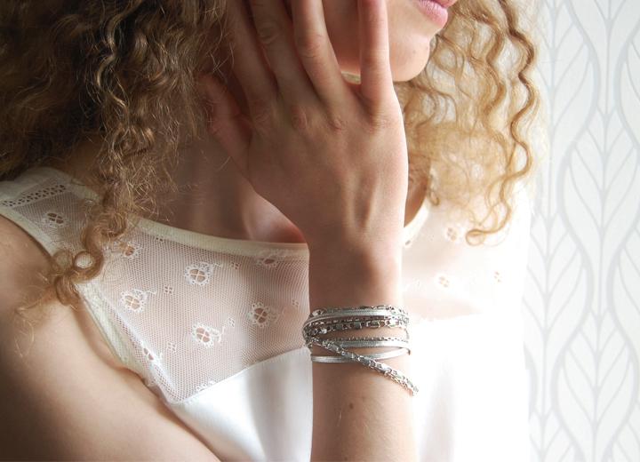 Bijou modulable Andrea bracelet-headband créateur ByrdCeeDesign