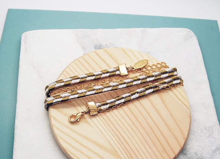 Bracelet Annabelle or et argent modulable L'Orangerie Bijoux