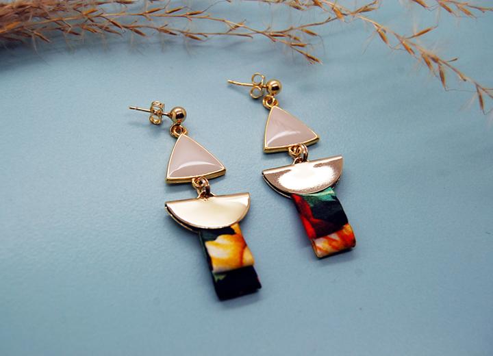 Boucles d'oreilles Isadora or et soie L'Orangerie Bijoux