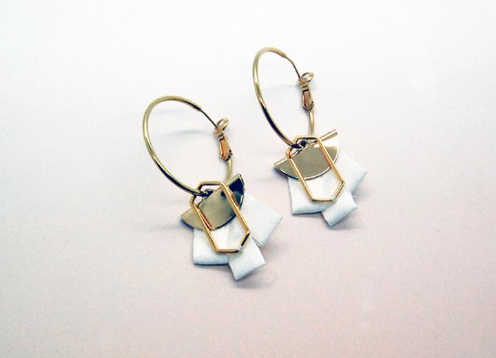 Boucles d'oreilles Flore créoles soie made in France L'Orangerie Bijoux