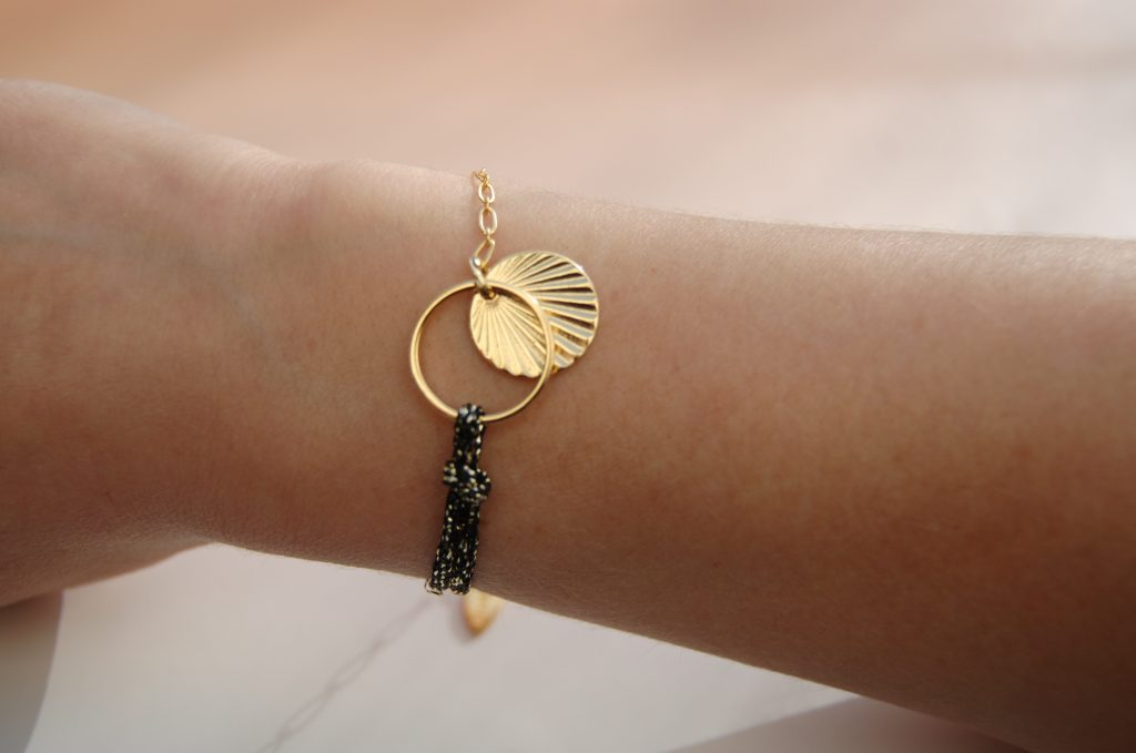 Bracelet Alban noir or L'Orangerie Bijoux Made in France