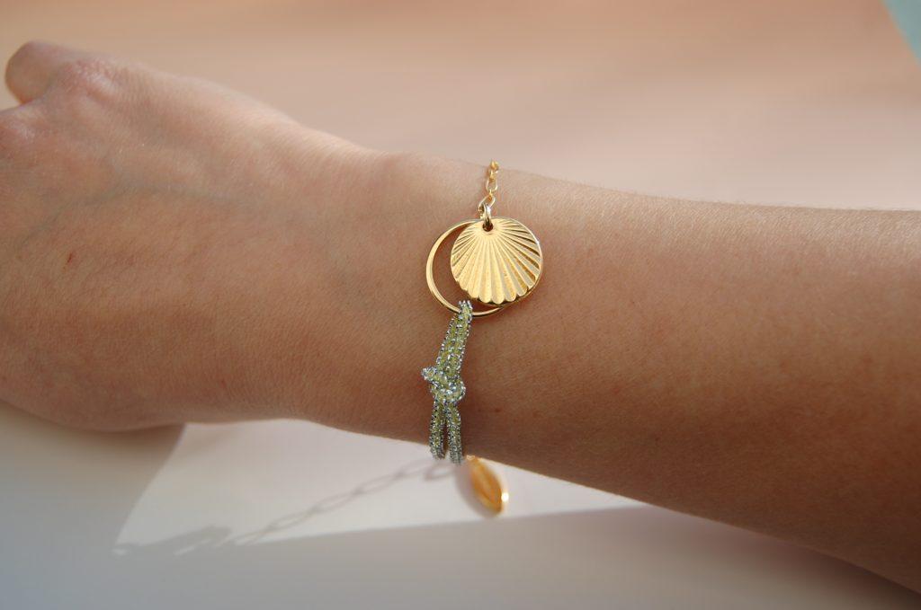 Bracelet Alban vert or L'Orangerie Bijoux Made in France