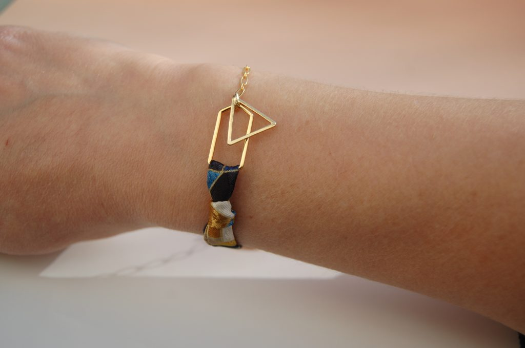Bracelet Harper soie or L'Orangerie Bijoux Made in France